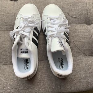 Adidas white and black sneakers